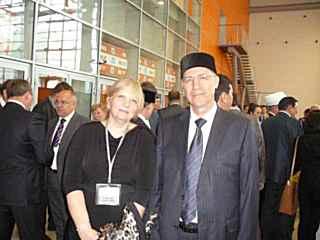 Первый заместитель Муфтия Дамир хазра  и М.Н. Королева