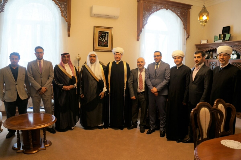 Mufti Sheikh Ravil Gaynutdin holds a meeting with Secretary General of Muslim World League