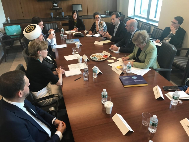 Mufti Sheikh Ravil Gaynutdin meets representatives of US State Department
