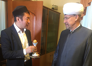 Kazakh mufti's advisor visits Cathedral Mosque