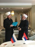 Serbian Mufti Mevlud Dudic visits Moscow Cathedral Mosque