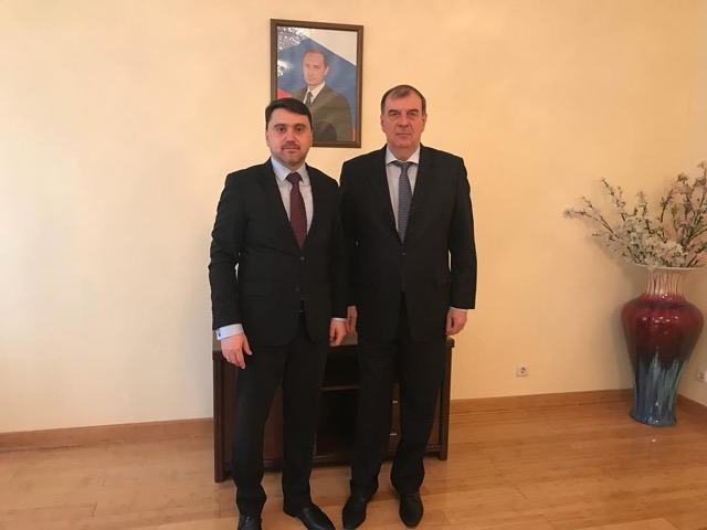 Meeting with Russian Ambassador in Kyrgyzstan